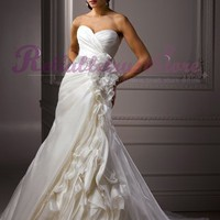 Couture A-line Sweetheart Organza Beach Wedding Dress-$366.99-ReliableTrustStore.com