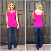Double Scoop Jersey Tank In Orchid