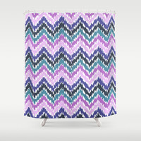 Ikat Chevron Shower Curtain by Noonday Design