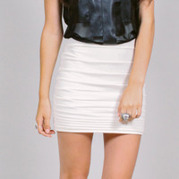 Minimal Structured Mini Skirt - Black or White - LIMITED