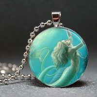 Underwater Mermaid Resin Pendant Picture Pendant by artyscapes