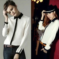 iOffer:  Women blouse fashion Handsome gored shirt Button Down  for sale