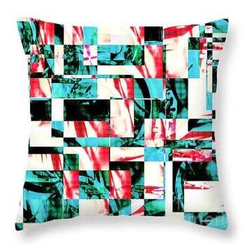 "Geometric Confusion 2 14"" x 14"" Throw Pillow for Sale by Shawna Rowe"