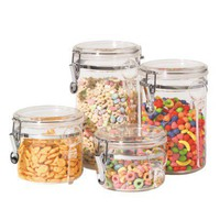 Acrylic 4-pc. Canister Set