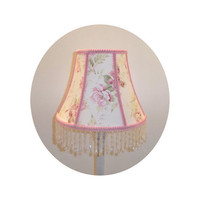 Shabby Chic Pink Rose fabric - Lamp Shade