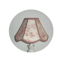 Pink Central Park Toile fabric  - Nursery Lamp Shade