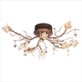 ET2 Flora Eight Light Semi Flush Mount in Flemish Gold | All Modern