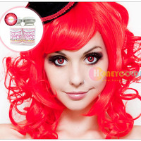 Super Pinky Bright Red Color Contact Lens - Circle Contact Lens -  Cosmetic Contact Lens - Colored Contacts - HoneyColor.com