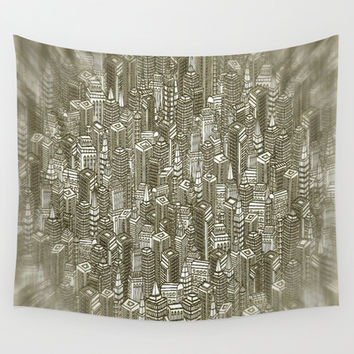 City Visions Wall Tapestry by Texnotropio
