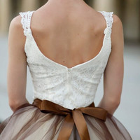 Sublime Ballerina bodice in ivory An elegant and by TutusChic