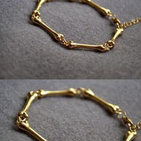 Topshop Brand New Skinny bone bracelet in shine silver adjustable
