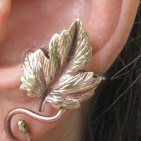 Leaf and vine EAR CUFF