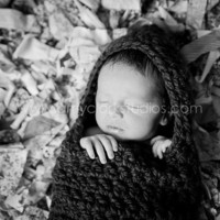 Baby Girl Unisex Newborn Hooded Cocoon Photography Props Purple Infant Chunky Bunting Egg Pod Sack MADE TO ORDER Baby Shower Gift