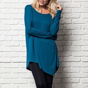 Easy Like Sunday Top in Teal