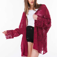 Go With The Flow Floral Lace Kimono