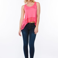 Ace Of Lace Flared Handkerchief Tank
