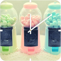 DENY Designs Home Accessories | Lisa Argyropoulos Bubble Gum Custom Clock