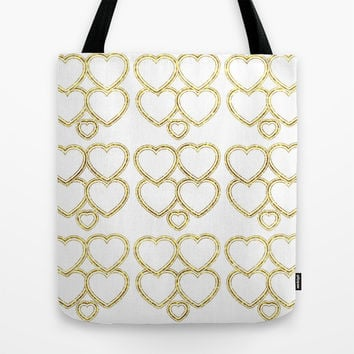 Golden hearts Tote Bag by VanessaGF