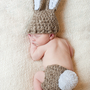Newborn Bunny Hat & Diaper Cover SetPerfect for by britt6934