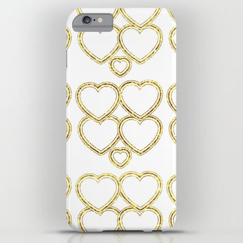 Golden hearts iPhone & iPod Case by VanessaGF