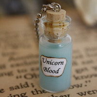 Harry Potter Potion Unicorn Blood Vial Necklace by spacepearls