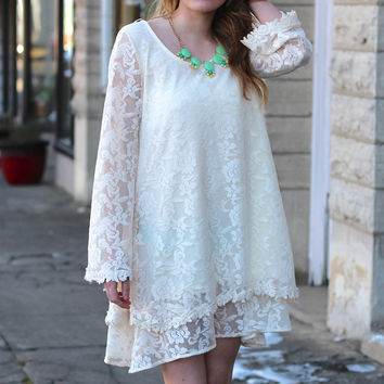 Future Mrs Lace Dress {Off White}