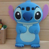 New 3D Blue Monster Stitch Samsung Galaxy S3 i9300 Case Cover