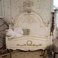 Painted Cottage Shabby Tea Stained Romance Bed
