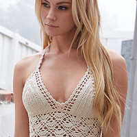 LA Hearts Crochet Halter Bikini Top at PacSun.com