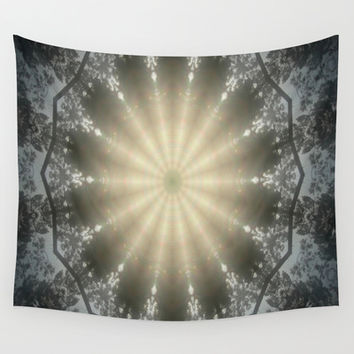 Sun Swirl Wall Tapestry by Gwendalyn Abrams