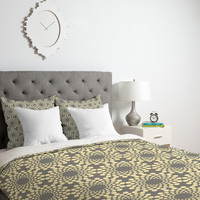 Budi Kwan Here Comes The Sun Silver Duvet Cover
