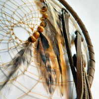 Traditional Leather Dream Catcher with Jade Stone