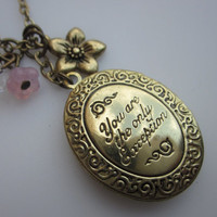 The Only Exception Romantic Locket with Flowers by lovespelljewels
