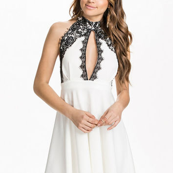 Lace Collar Skater Dress, NLY One