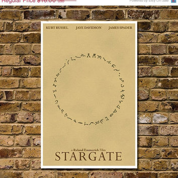 "Retro Stargate Cult Movie Poster - High Quality 11""x17"" Minimalist Art Print"