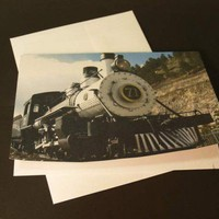 Steam Engine, Colorado Central Railroad Locomotive #71 Photo Note Card