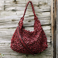 Willow Leather Tote in Burgundy, Sweet Bohemian Totes &amp; Bags