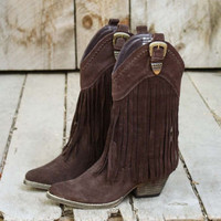 Hillside Fringe Boots, Rugged Boots & Shoes