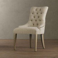 Martine Upholstered Armchair | Dining Chairs | Restoration Hardware