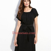 Stunning Chiffon Jewel Neckline Little Black Dress [823433] - $133.46 : Dressesau.com, Prom Dresses,Wedding Dresses Shop