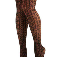 Textured heart tights