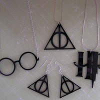Deathly Hallows Harry Potter SUPER 4 piece by everlastingdoodle