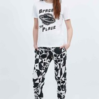 Lulu & Co Space is the Place Tee in White - Urban Outfitters