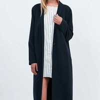 Libertine-Libertine Blown Overcoat in navy - Urban Outfitters