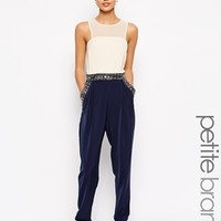 Little Mistress Petite Mesh Insert Jumpsuit