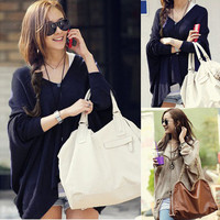 STYLISH COMFY BATWING SLEEVES CARDIGAN KNIT COAT (2 SIDES WEARABLE) 1509