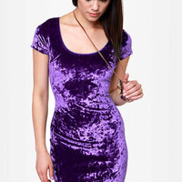 One Rad Girl Paige Purple Velvet Dress
