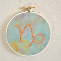Capricorn Astrology Embroidery Orna.. on Luulla