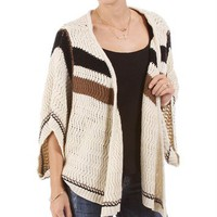Tan Knitted Dolman Sweater