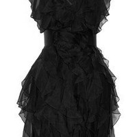 Notte by Marchesa Ruffled silk dress - 55% Off Now at THE OUTNET